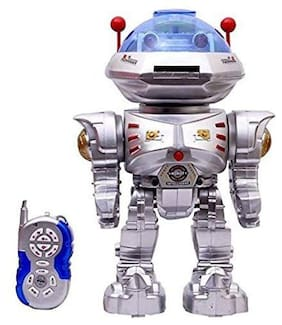 Radio Remote Controlled RC Intelligent Robot 12 inch R/C Dancing Robot with Disk Laucher Light and Music