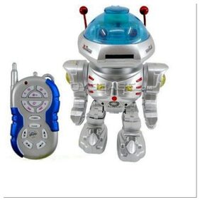 Radio Remote Controlled Dancing Robot With R/C Missile Disc Launcher(Silver)
