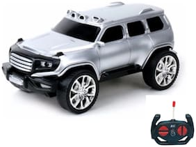 RC Hummer - Remote Controlled Rock Crawler Monster Truck - Off Roader Racer (Silver)