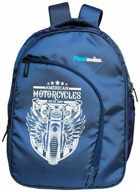 """Real Swiss """"Rider"""" 34 Lt Navy 17.5 or 15.5 inch Laptop - Backpack"""