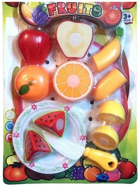 Realistic Sliceable Fruits Cutting Play Toy Set for kids ( Multi Color)