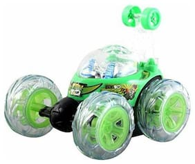 Rechargeable STUNT Racer Remote Control Car Kids Toys Battery Operated RC Music Rechargeable Batteries inside car for saving money