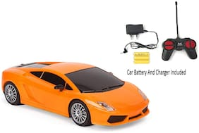 Rechargeable Remote Controlled 4 Channel Radio Control Like Racing Sports Car orange