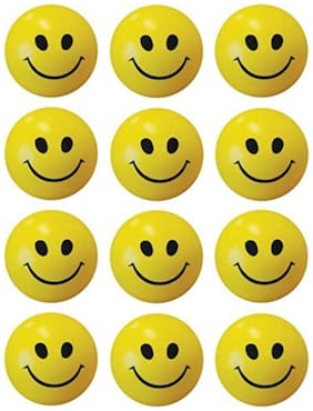 Red Ballons 12 Smiley Face Squeeze Stress Balls for kids