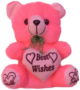 Red Ballons - Pink Super Soft Teddy Bear (Best Wishes)