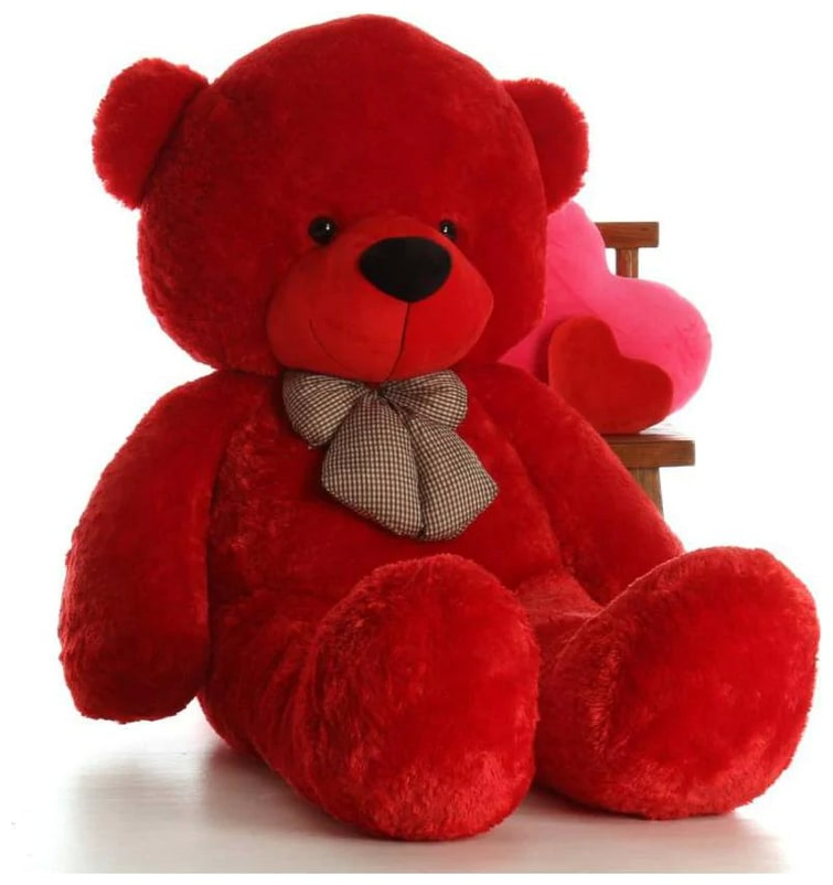 Red Color Soft 3 Feet Teddy Bear 80 cm by Dharmender
