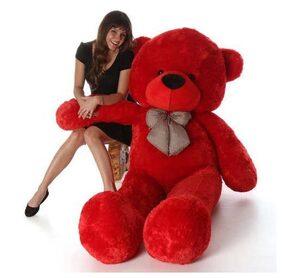 Red Color Soft 3 Feet Teddy Bear 80 cm