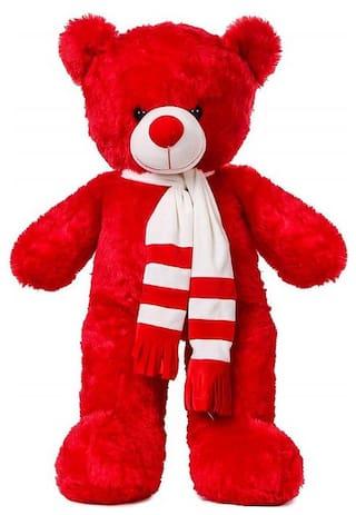 ZOOMINO Red Teddy Bear - 80 cm
