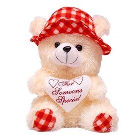 red & Cream Teddy Bear 30 cm
