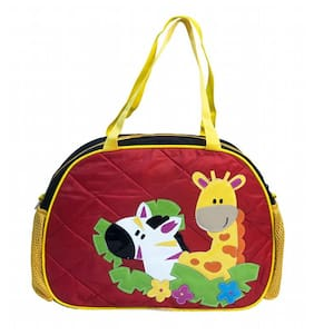 Red Jungle Quilted Kids Day Bag