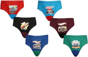 Red Rose Brief For Boys - Multi , Set of 6