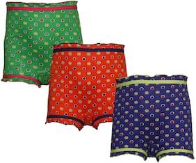 Red Rose Panty & bloomer for Girls - Multi , Set of 3