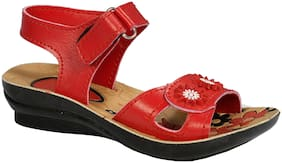 SIM STYLE Red Girls Sandals