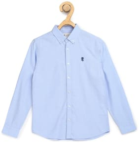 Red Tape Boy Cotton Solid Shirt Blue