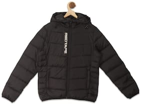 Red Tape Boy Polyester Printed Winter jacket - Black