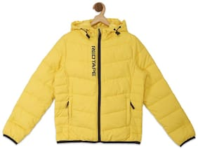 Red Tape Boy Polyester Printed Winter jacket - Yellow