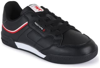 Red Tape Black Canvas shoes for boys