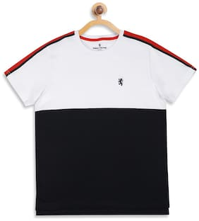 Red Tape Boy Cotton Colorblocked T-shirt - Blue