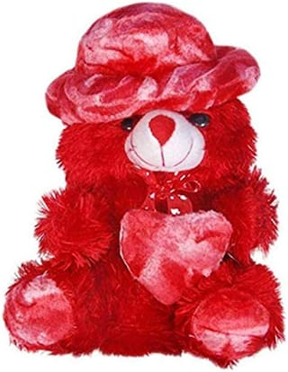 Red Teddy Bear With Hear - Best Gift For Valentine Day