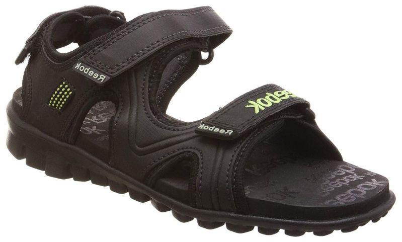 Reebok Black Boys Sandals by Sooper Buy