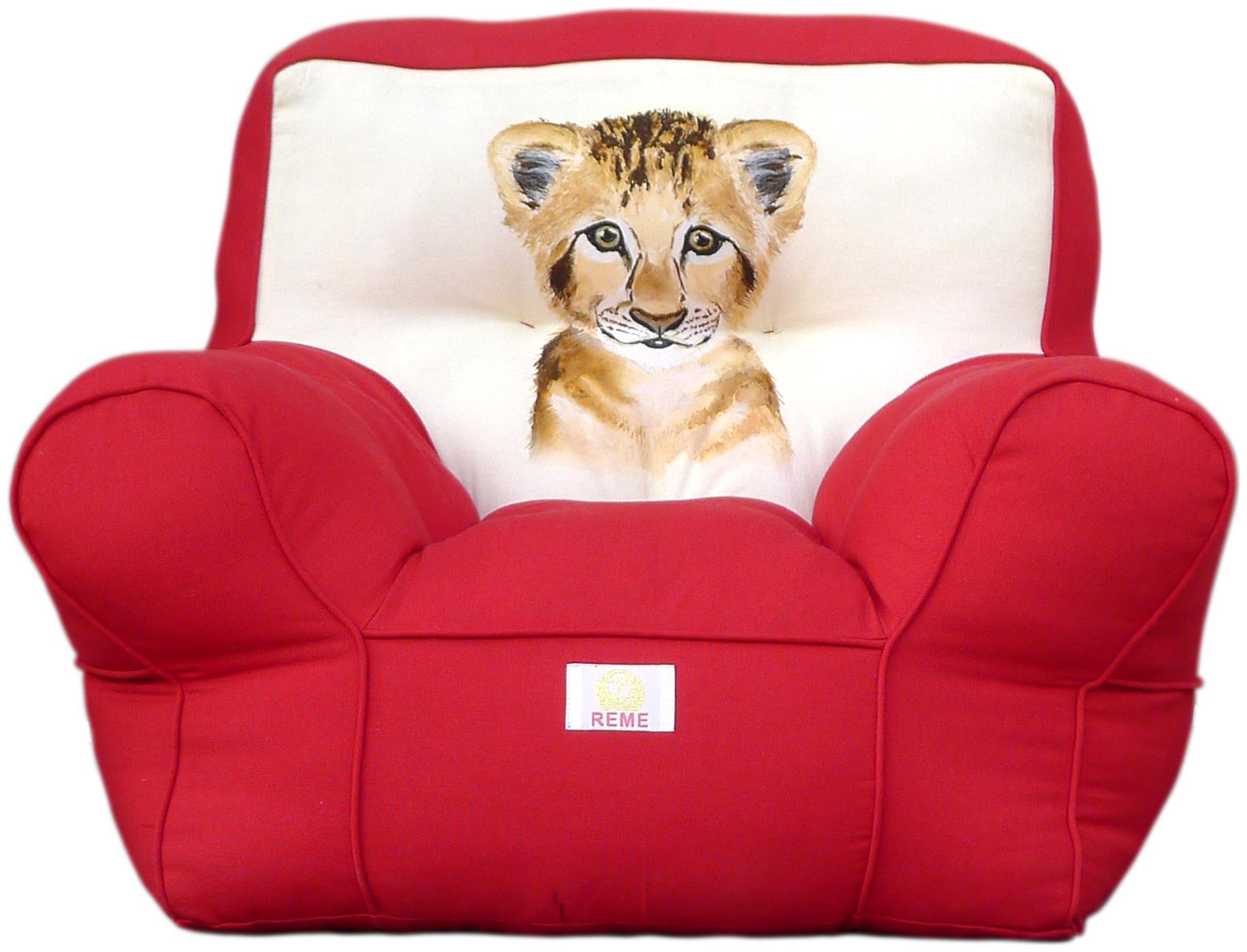 Reme High Quality Organic Cotton Comfortable Sofa Kid's Sofa (Red)