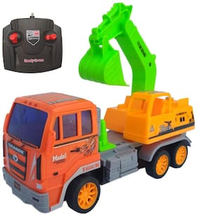 Remote Control JCB Truck Construction Toy with Excavator Bucket ( JCB Mounter Truck )