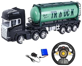 Remote Controlled Oil Tank Truck - Over Sized Trucks 53 cm Length - Fully Functional 2.5Ghz 5 Channel Remote