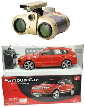 Remote Control Non- Chargeable Red Famous Car With Binocular