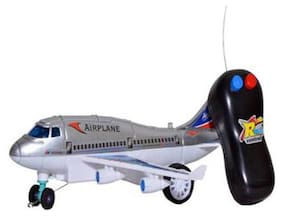 Remote Control Battery Operated Airplane For Kids Running Plane, Multi Color by Signomark.