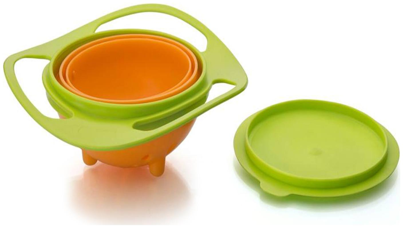 Revolving Lunch Box 360 Degree Rotates  Baby Bowl   Green  1 Containers Lunch Box   360 ml