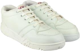 Rex White Unisex Kids School Shoes