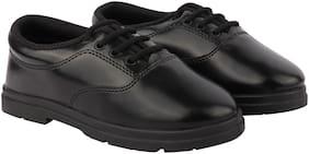 Rex Black Boys School Shoes