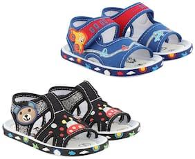 Rex Black & Blue Sandals For Infants