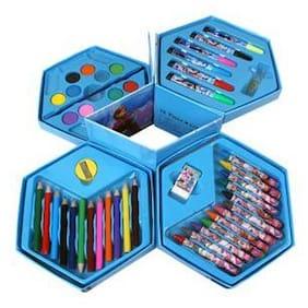 Rhosyn Natural Art 46 Pieces - Frozen Colors Box Color Pencil;Crayons;Water Color;Sketch Pens for kidzdos 12 Shaped Color Pencils