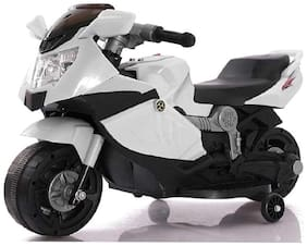 Super Racer BMW (Ninja) Battery Operated Ride On Bike With Music, Horn, Headlights And 25 kg Weight Capacity - White
