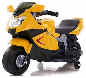 Super Racer BMW (Ninja) Battery Operated Ride On Bike With Music, Horn, Headlights And 25 kg Weight Capacity - Yellow