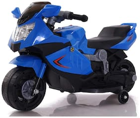 Super Racer BMW (Ninja) Battery Operated Ride On Bike With Music, Horn, Headlights And 25 kg Weight Capacity - Blue