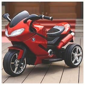 RK Unique Store Super Racer Official Licensed BMW Battery Operated Ride On Bike With Original Music System;Headlights With 30 kg Weight Capacity - Red