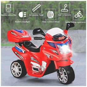 ''RK Unique Store'' 3-Wheel Special Battery Operated Ride On Bike With Music, Horn, Headlights With 25 Kg Weight Capacity - Red