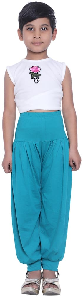Robinbosky Girl Cotton Trousers - Green