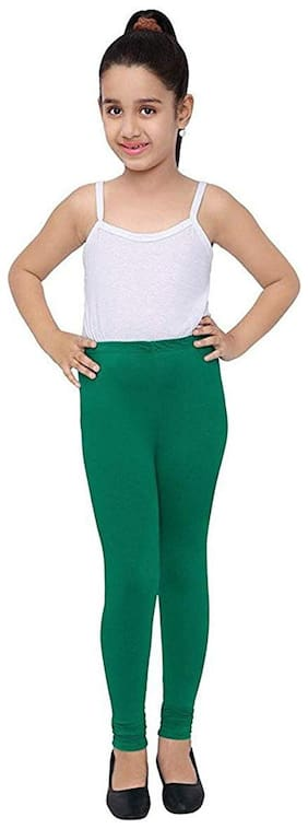 Robinbosky Cotton Solid Leggings - Green