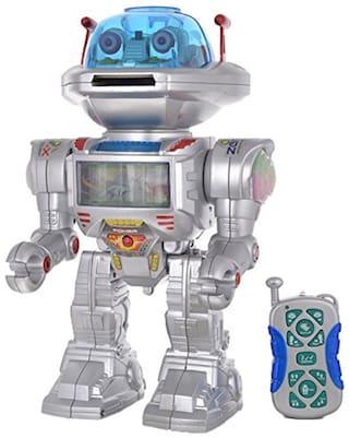 Robot IR Radio Control Intelligent Robot R/C Missile Disc Launcher 1499 (12-inch)