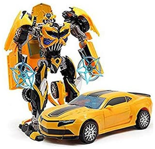 Robot to Car Converting Transformer Toy For Kids / Children ( Multicolor )