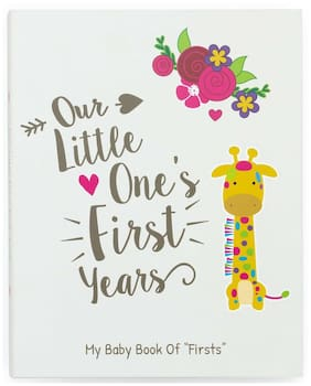 Ronica First Year Baby Memory Book and Baby Journal - Modern Baby Shower Gift -