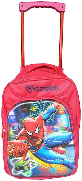 ROXX  Spiderman 18 inch Red Waterproof Trolley Hybrid Children's Backpack