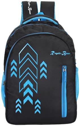 Royale Beast Balck Blue Polyester 41 Ltr School Backpack II Casual Backpack II Laptop Bag (RB102)