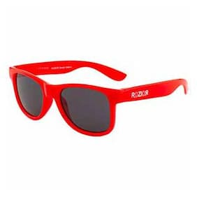 Rozior Red Kids Sunglass with UV Protection Smoke Lens with Red Frame, MODEL: RWUK1028C5