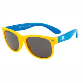 Rozior Yellow Kids Poarized Sunglass with UV Protection Black Lens with Yellow Frame,  MODEL: RWPPK101C3