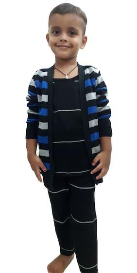 RRC Acrylic Striped Top & Bottom Set - Multi
