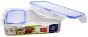 Ruchi Lock & Seal 2 Containers Lunch Box  (900 ml)
